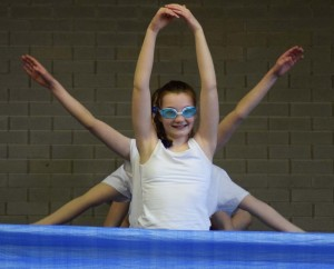 swimmers perform